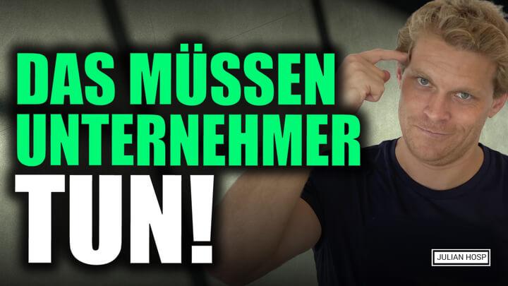 WIRTSCHAFTSKRISE 2020: DAS MÜSSEN UNTERNEHMER TUN!