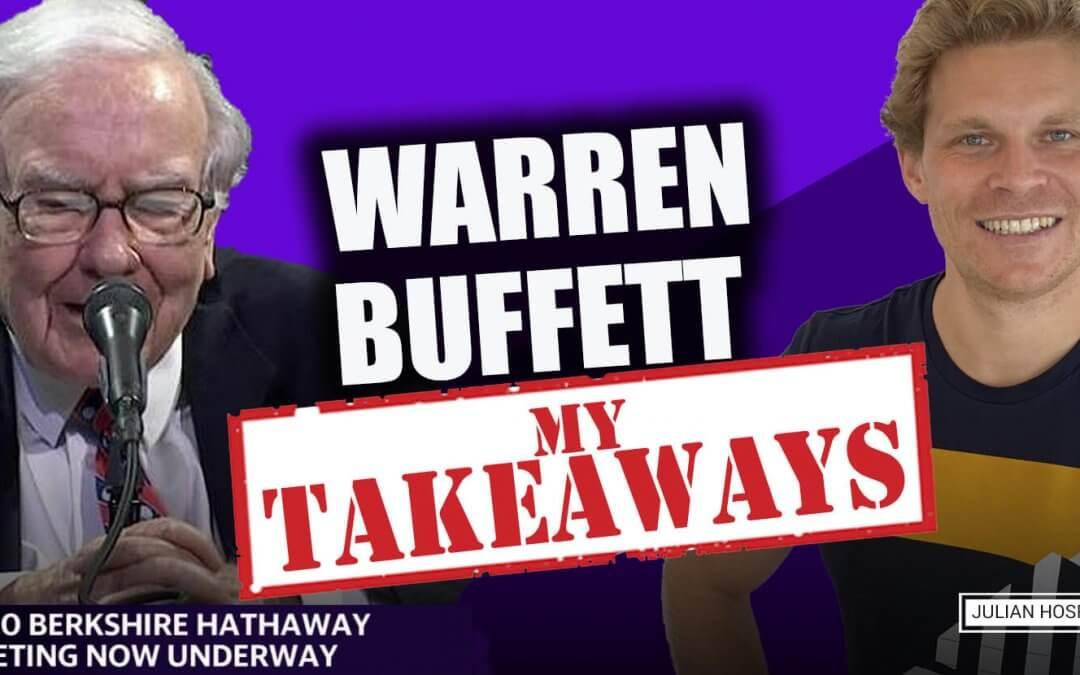 Warren Buffett Annual Berkshire Meeting 2020: My 5 most important takeaways