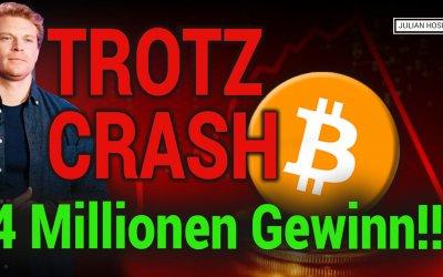 Bitcoin Crash! 4 Millionen Gewinn in 2 Stunden?!