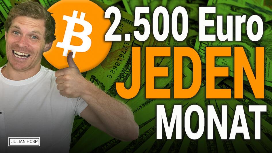 UNGLAUBLICH! 2.500 EUR pro Monat mit nur 0,5 Bitcoin?