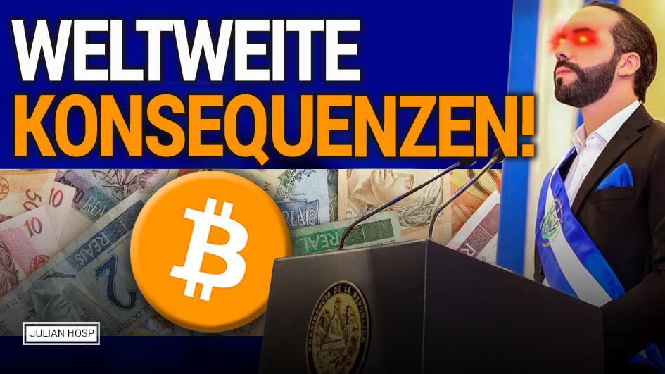 ACHTUNG Weltweite Konsequenzen! Bitcoin Offizielles Geld in El Salvador?!